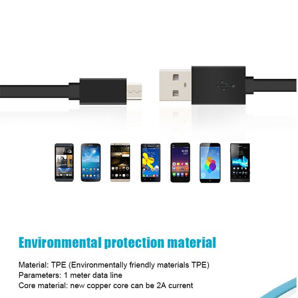 Flat cord injection molding heads mirco usb TPE  cables