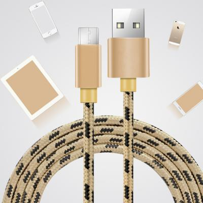 Nylon Braided Metal aluminum Cover  Micro USB 5Pin Cable  02