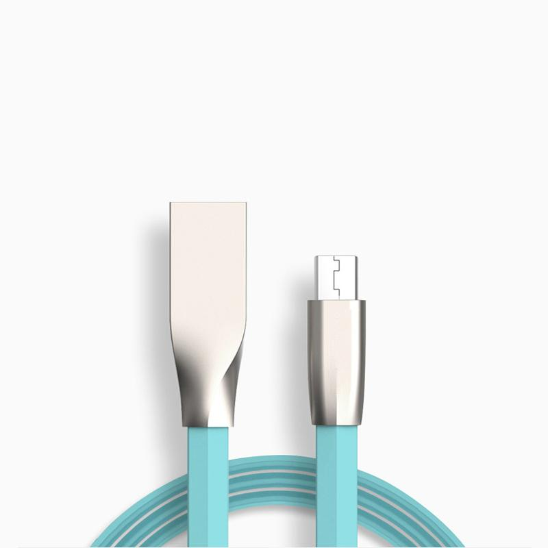 High Quality Metal Diamond Shape Connector Zinc Alloy Fast Charging Data Sync Micro USB Cable 0