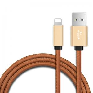 High quality fast charge cable PU leather  usb cable for iphone from Shenzhen manufacturer
