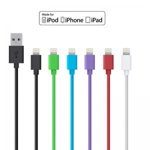 Apple MFi Certified 1M Round 8pin Lightning to USB Cable Wholesale