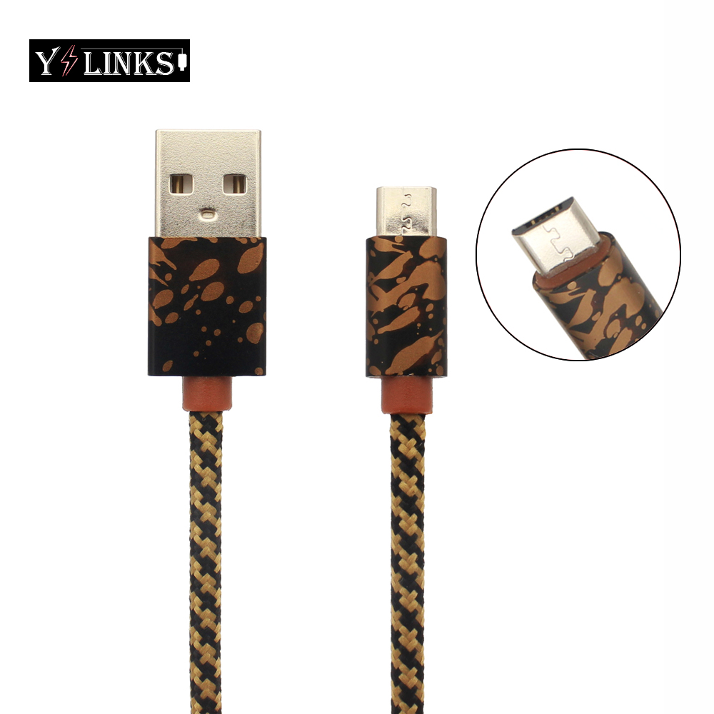 Micro Usb Cable With Aluminum alloy Metal Nylon Braided