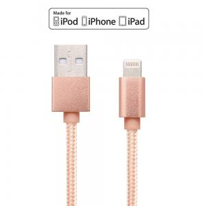 Apple MFi Certified 1M Braided&Metal shell Lightning to USB Cable