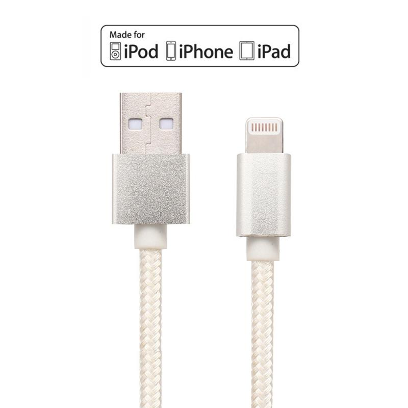 Apple MFi Certified 1M Braided&Metal shell Lightning to USB Cable 2